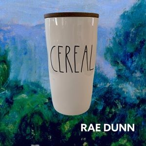 RAE DUNN CEREAL CONTAINER WOOD SEALED TOP